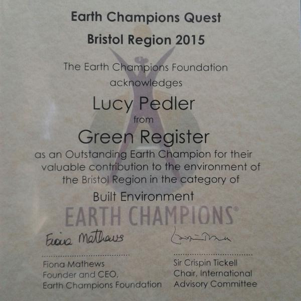 Earth Champions Lucy Pedler News