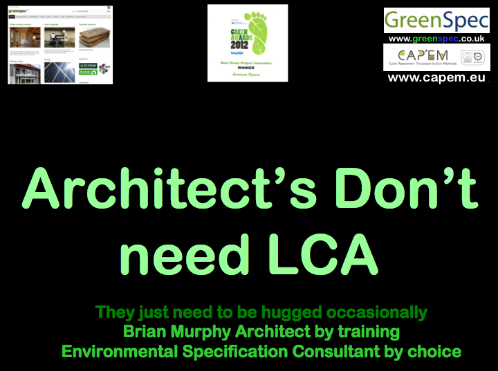 Architects Don't Need LCA CPD