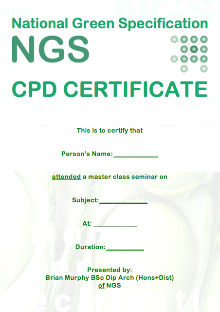 Gbe cpd certificate g 1485 n 1445 green building for Cpd certificate template