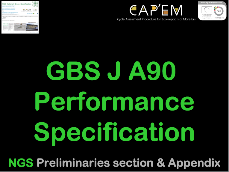 GBS A90 Performance Specification (CPD) G#1377 N#1354