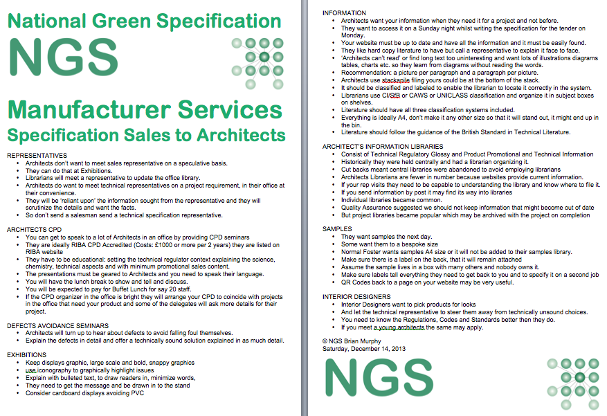 NGSSpecificationSalesArchitectsCover