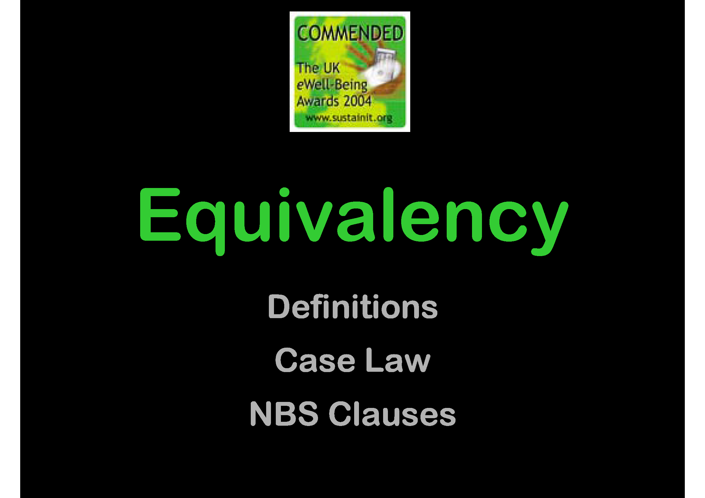 Equivalency Cover, GBE CPD, Or Equivalent,