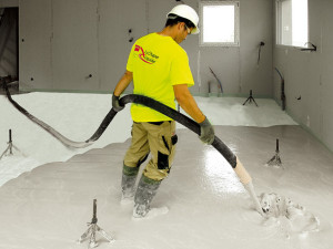 Self-levelling Gyvlon screed