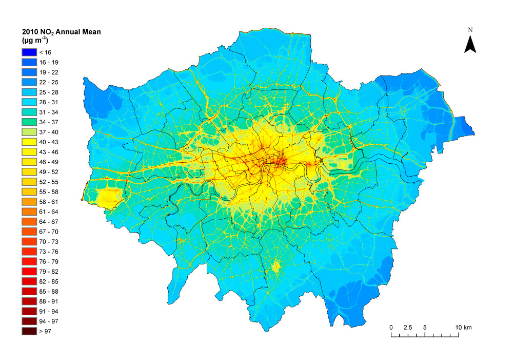 London Local Air Quality Map G#11238