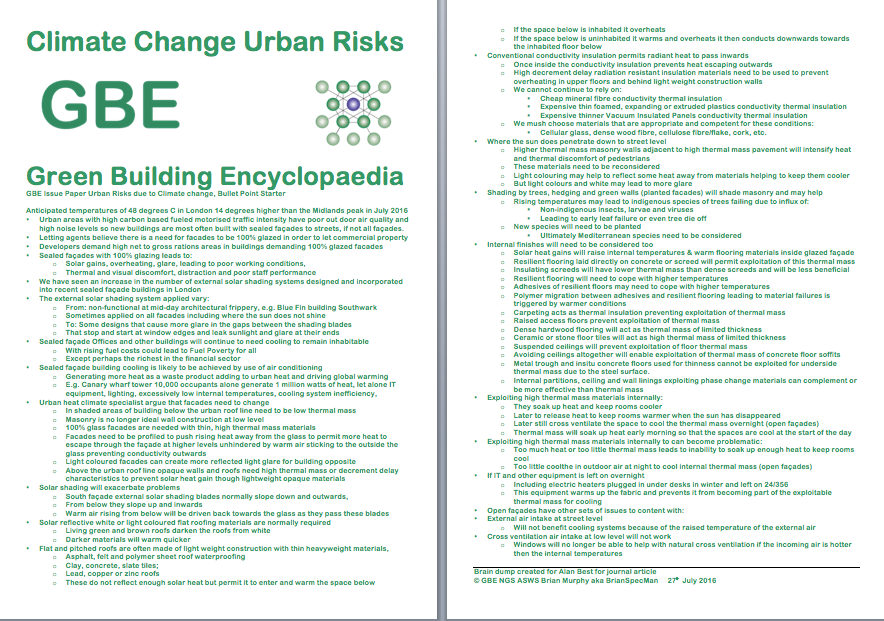Urban Risks due to Climate Change G#12500