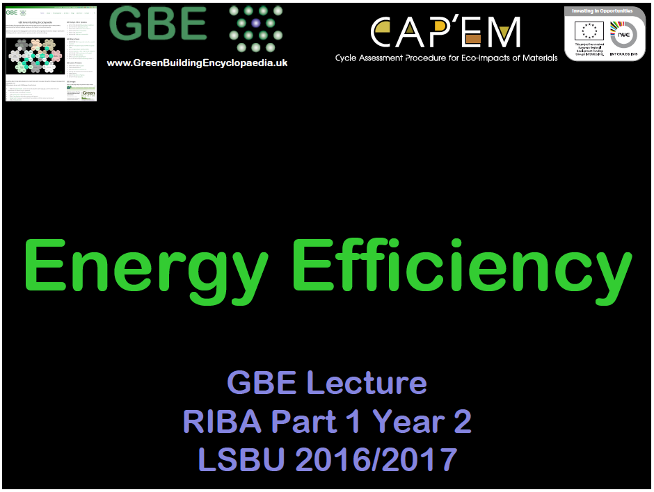 Energy Efficiency (Lecture) G#13262