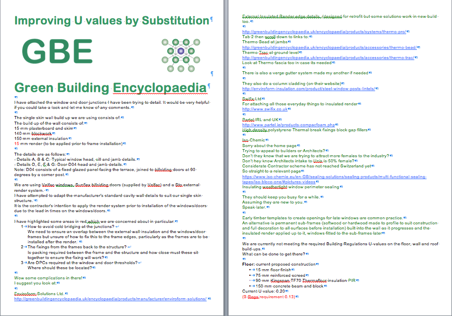 Improving U values by Substitution (Brainstorm) G#13507