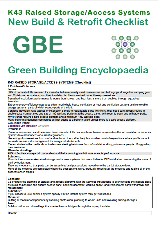 Gbe diary 2016 q4 green building encyclopaedia for Green building features checklist