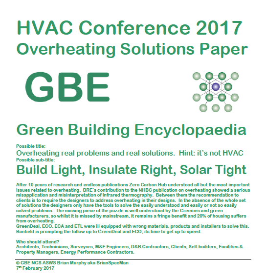 GBE HVAC Conference 2017 Overheating Solutions Paper