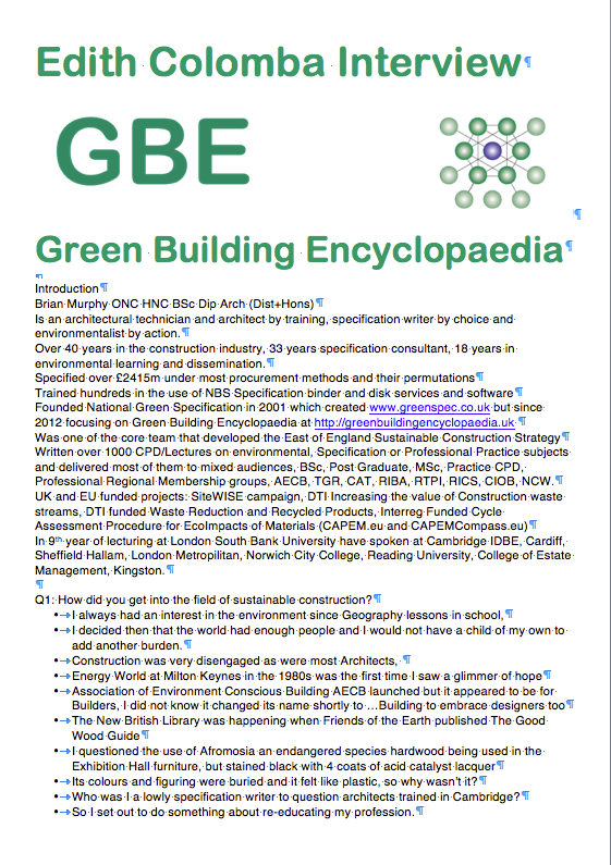 GBE Sustainable Refurbishment (Interview) G#15281