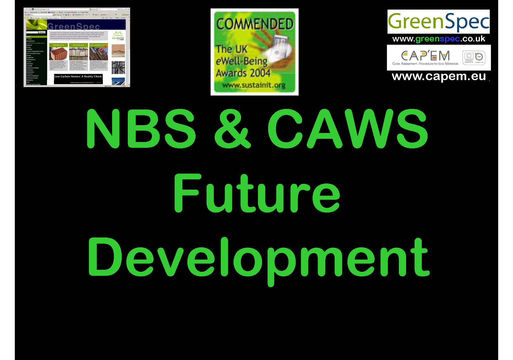 Specification NBS CAWS Future Cover png