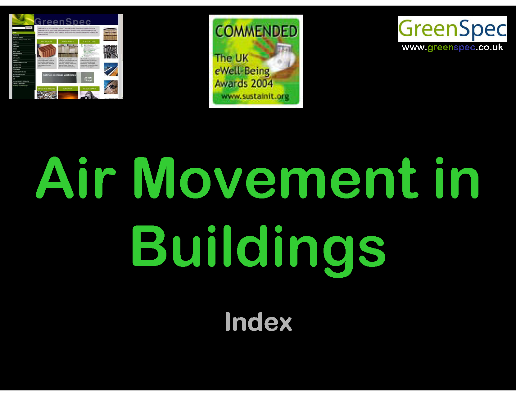 Air Movement In Buildings Index Cover png