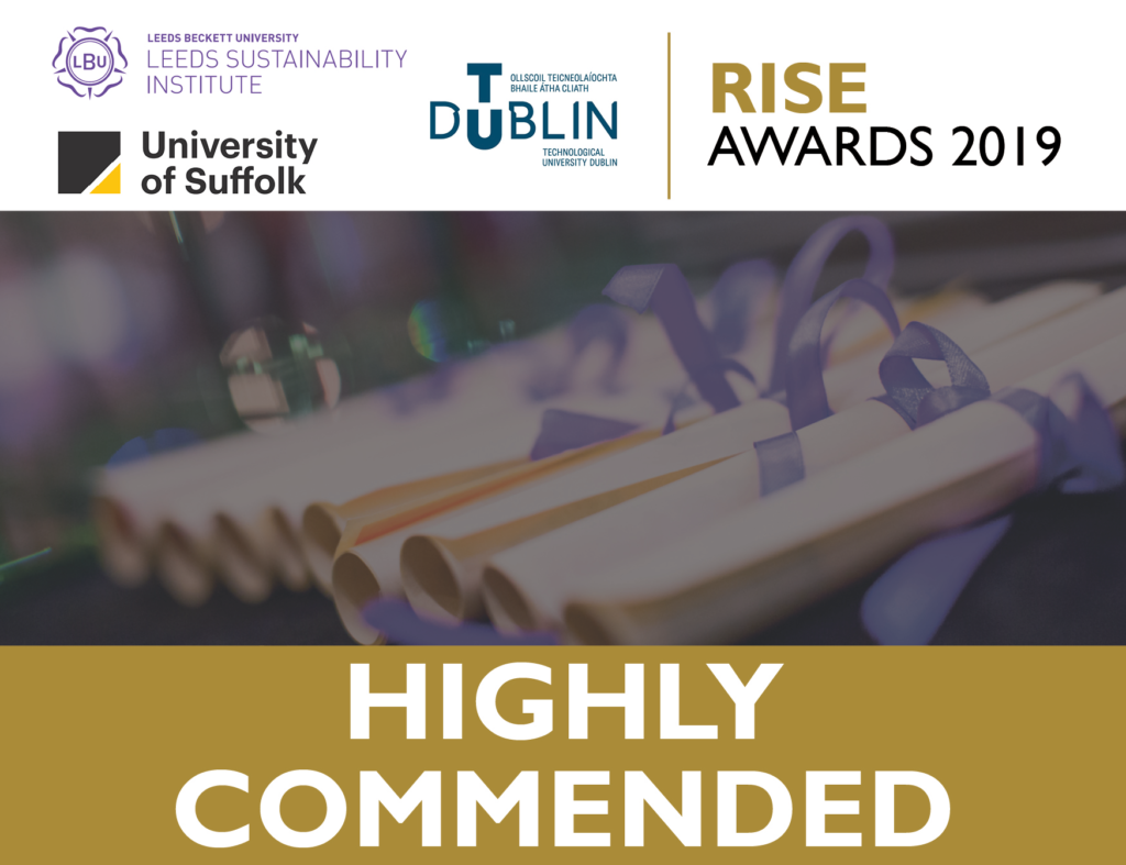 RISE 2019 Behaviour Change Highly Commended
