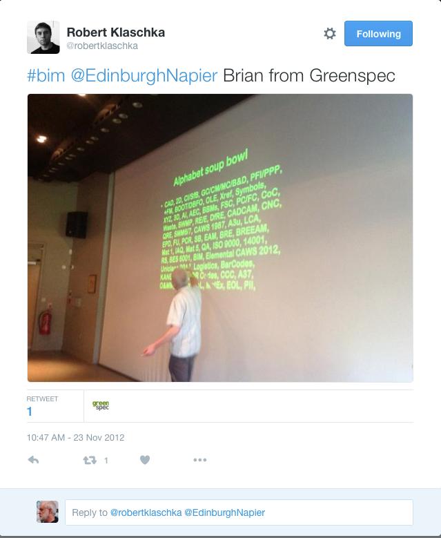 Edinburgh Napier BIM Event BRM Alphabet GBE Live