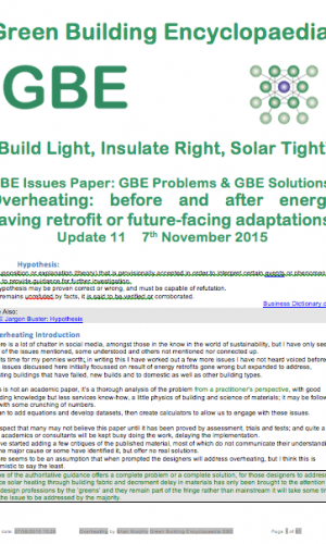GBE Overheating Issue Paper A11 BRM 071115 Overheating Urban climate