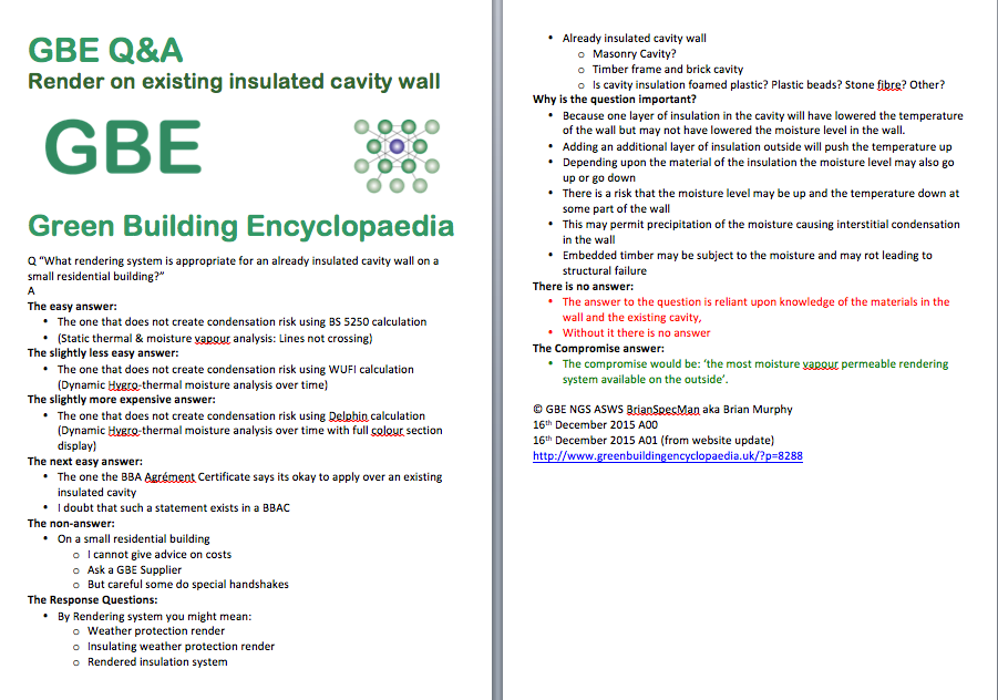 GBE Q+A Render On Insulated Cavity Wall