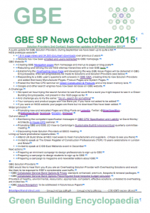 GBE Solution Provider's News October 2015