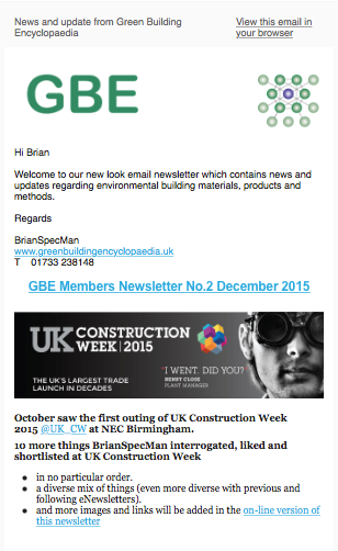 GBE Member Newsletter 2 Dec 2015