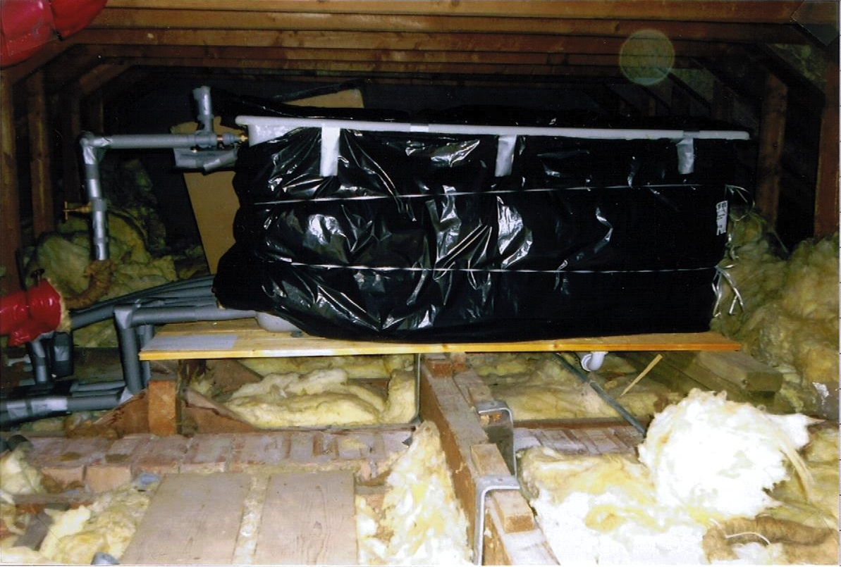 Attic Cistern Thermal Insulation Enclosure