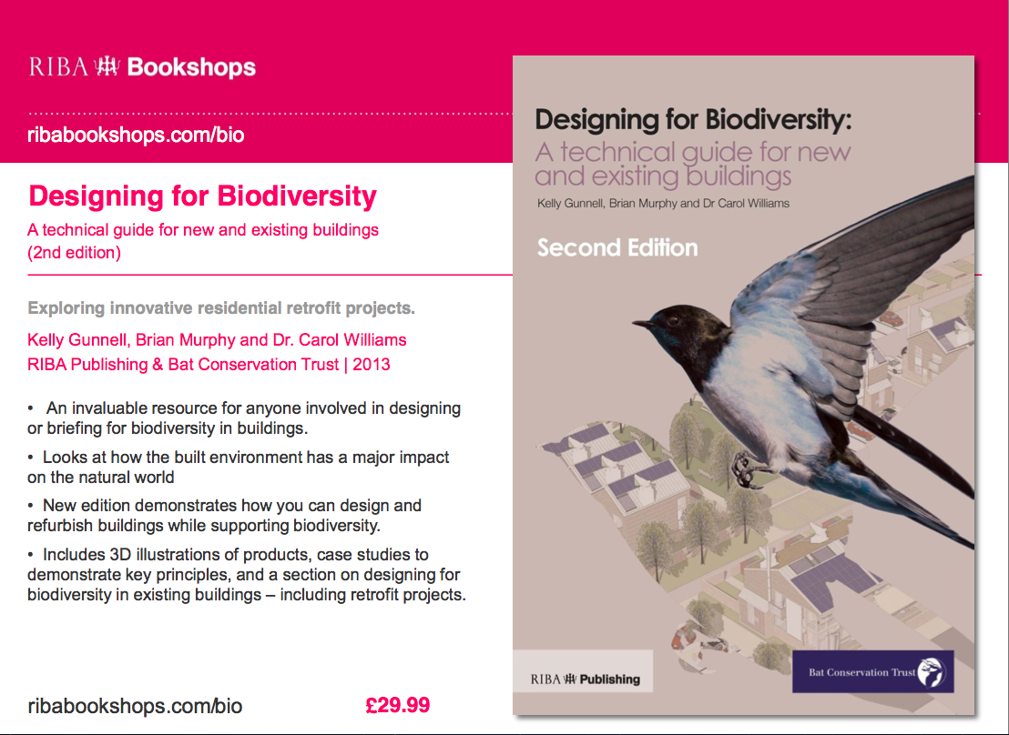 Designing for Biodiversity: A Technical Guide for New and Existing Buildings G#1328 N#1316