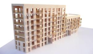 Bridport House CLT superstructure Model