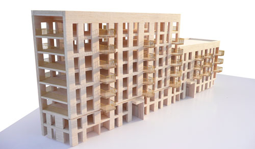 Bridport House CLT superstructure Model
