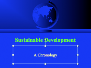 GBE CPD Sustainable Development A Chronology To 1999 Cover