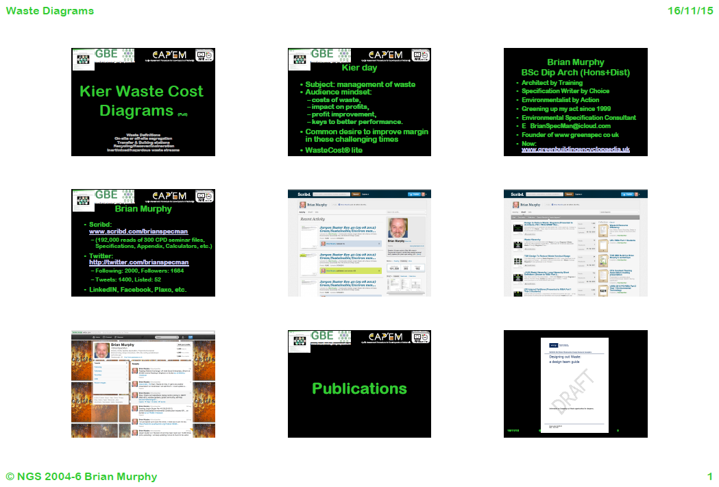 GBE CPD 9 slides/page Handout Kier Waste Cost