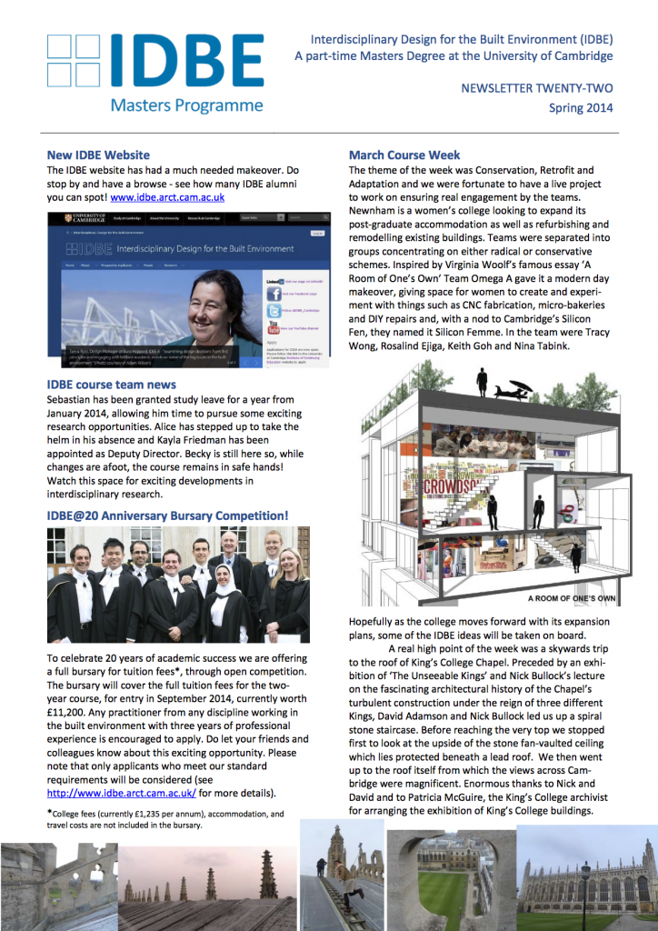 IDBE-newsletter-22-spring-2014