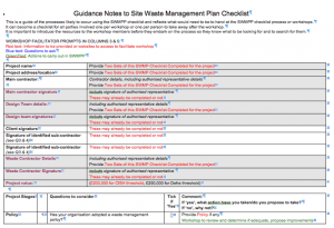 SWMP Checklist Guidance Notes 1