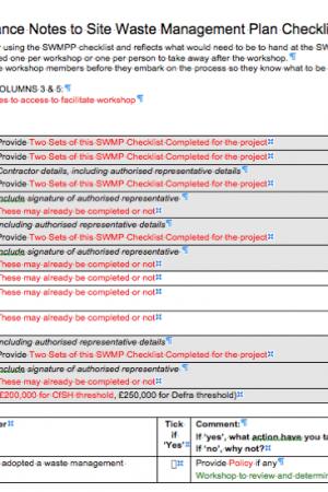 SWMP Checklist Guidance Notes 1