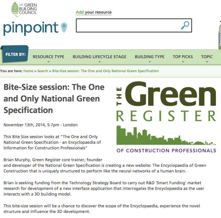 UKGBC PinPoint TGR NGS CPD