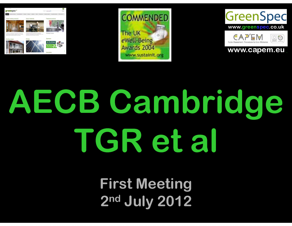 AECB Cambridgeshire 1st meeting CPD