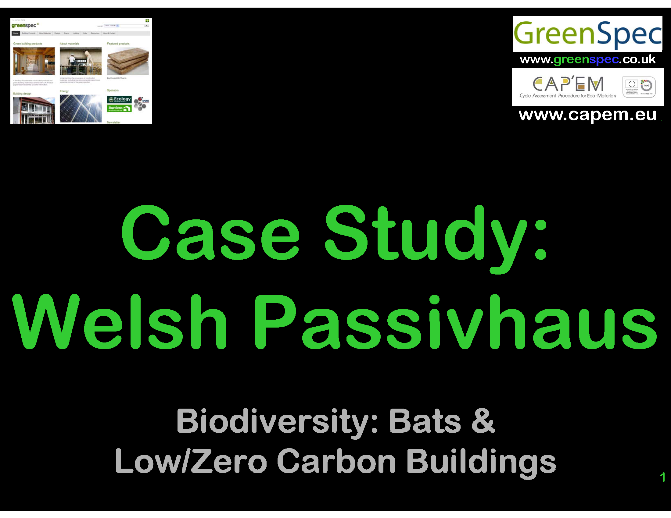 GBE CPD Case Study Welsh Passivhaus Cover slide