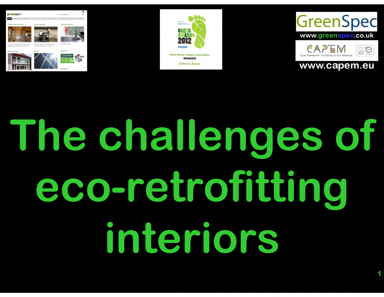 Eco Refurbishment Office Interiors (CPD) G#19446