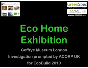 Geffrye Museum Eco Home Exhibition (CPD) Cover PNG