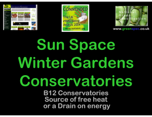 GBE CPD B12 SunSpace WinterGarden Conservatory Cover Slide