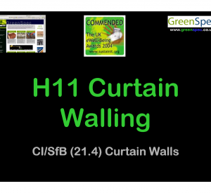 H11 Curtain Walling Lecture Cover