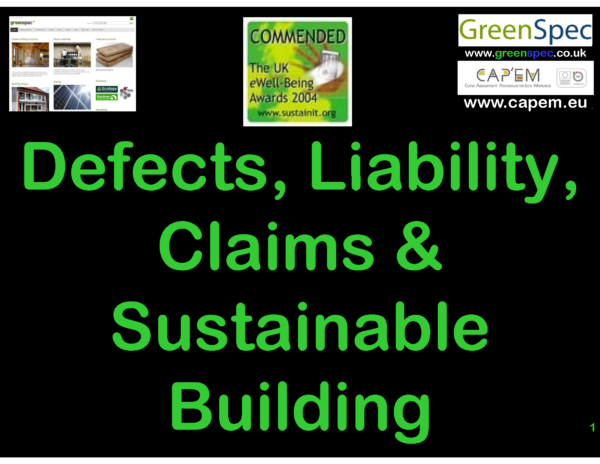 Legal Defects Liability Claims Sus Building CPD Cover PNG