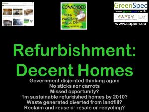 RefurbishmentDecentHomes