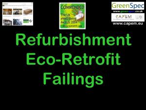 Refurbishment Eco Retrofit Failings CPD Cover