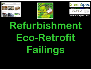 Refurbishment Eco Retrofit Failings CPD Cover