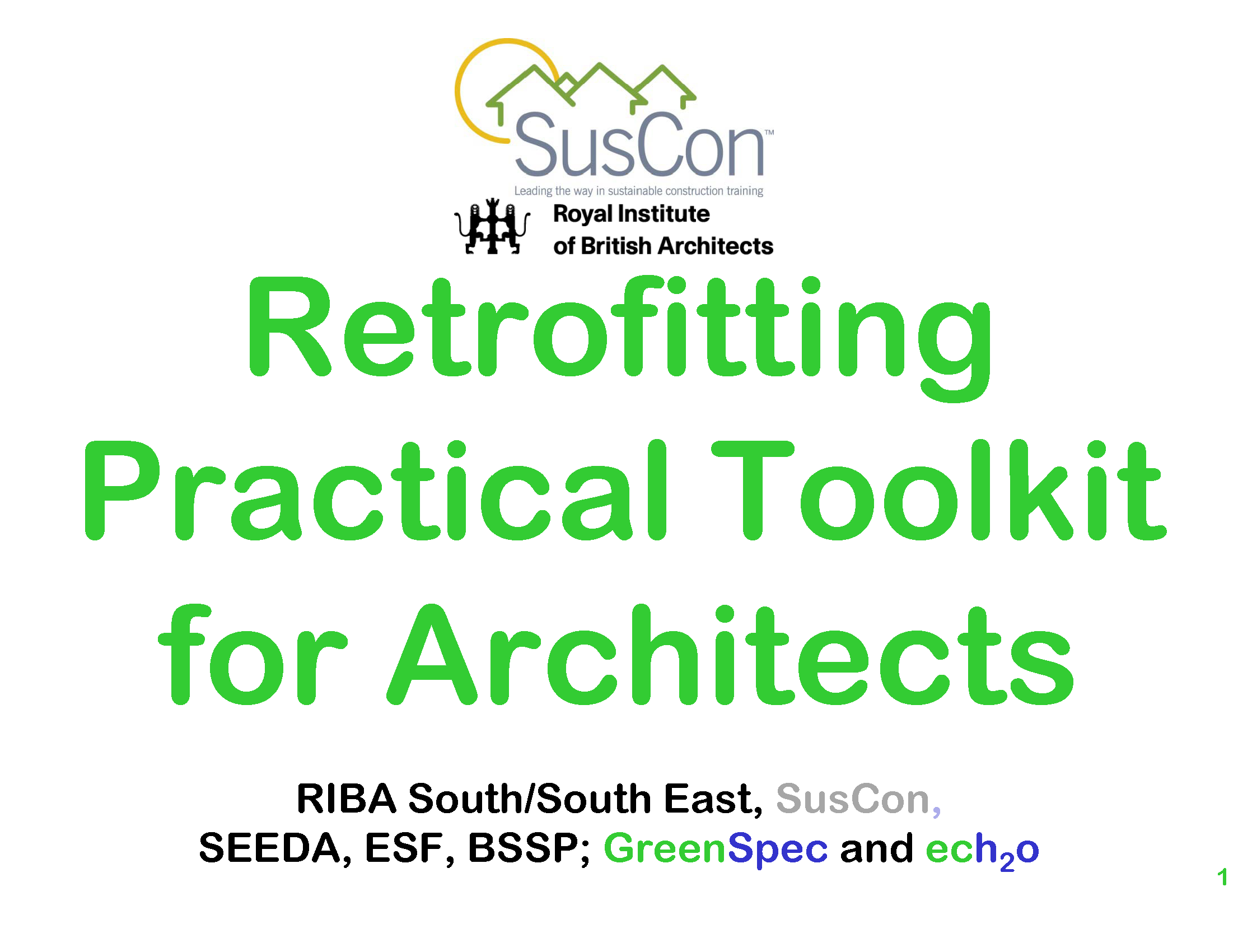 GBE CPD Retrofitting SusCon 2 Generic issues