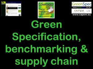 SpecificationBenchmarkingSupplyChain