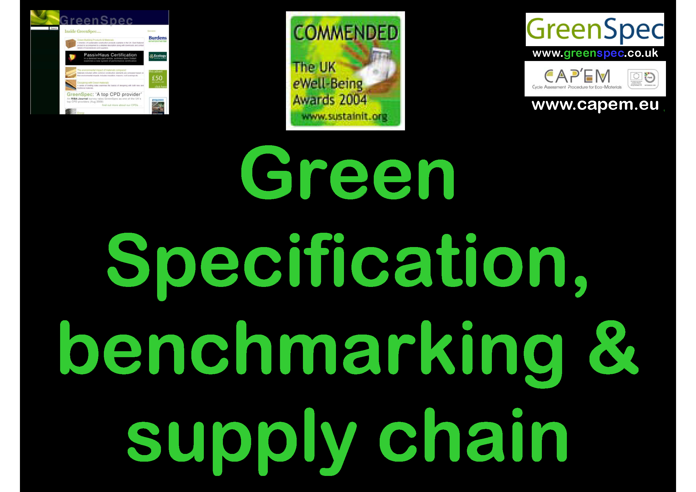 SpecificationBenchmarkingSupplyChain