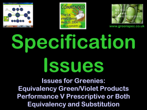 SpecificationIssues