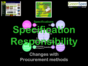 SpecificationResponsibility