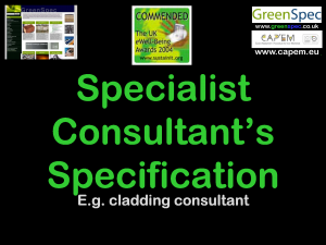 SpecificationSpecialistConsultants