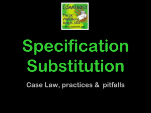 SpecificationSubstitution