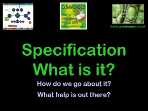 SpecificationWhatIsIt